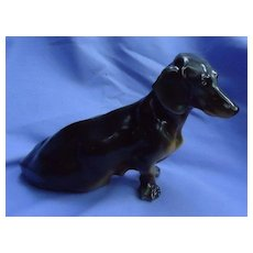 "Black tan Dachshund dog Herend 9"""