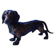 "1950s Black / tan Dachshund dog Germany 10"""