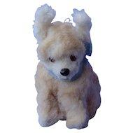 """Fur terrier salon dog French fashion doll Germany 4"""" label"""