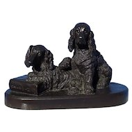 bronze English Setter Springer spaniel hunting dog Dachshund Baldwin 7""