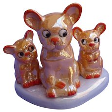 French Bulldog Luster wear 6pc condiment set Germany