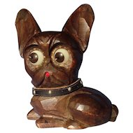 French Bulldog rolling eye Oswald clock Germany