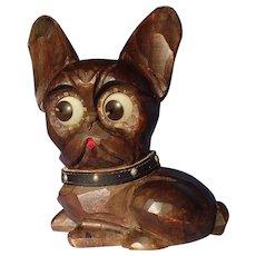 French Bulldog rolling eye Oswald clock Germany