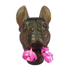 "French Bulldog cane handle glove holder 3"""