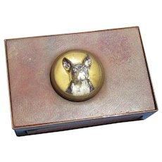 French bulldog Essex crystal match box holder Germany