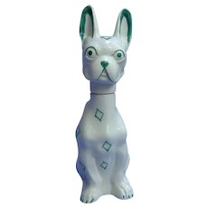 "art deco French Bulldog decanter Goebel Germany 9"""