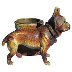"French Bulldog inkwell Heyde Germany 5"" dog"