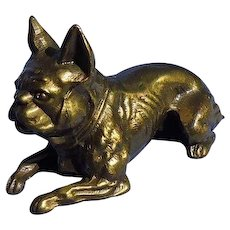 1920 French Bulldog K&O bronze dog