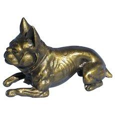 1930 French Bulldog bronze K&O dog