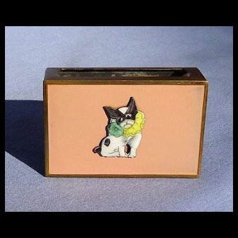 French Bulldog match box holder Germany