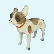 "antique 14"" French Bulldog pull toy dog  Bru Kestner Jumeau doll companion Germany label"
