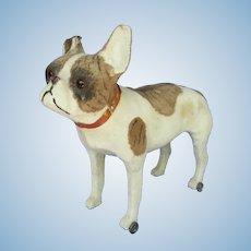 """antique 14"""" French Bulldog pull toy dog  Bru Kestner Jumeau doll companion Germany label"""
