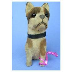 antique French Bulldog squeaker toy Germany fashion doll companion dog
