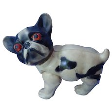 """1920 French Bulldog celluloid toy 5"""" Japan"""