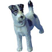 """Wire Fox Terrier Augarten Wien Austria  dog 7"""""""