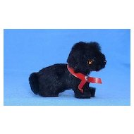 Germany fur Scottish terrier toy salon dog French fashion doll  black Scotty