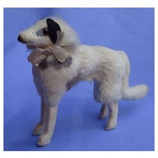 "fur Borzoi salon dog Kestner BRU French fashion doll companion 5"" Germany label"