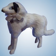 "fur Borzoi salon dog Kestner BRU French fashion doll companion 5"" Germany label"