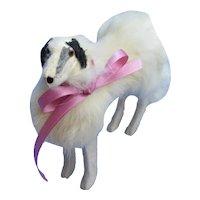 fur Borzoi salon dog Kestner BRU Jumeau French fashion doll companion 5x7