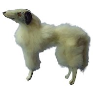 antique fur Borzoi Germany 4 French fashion doll 3""
