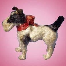 "antique Fripon Fox terrier salon dog French fashion doll companion Germany label 4"""
