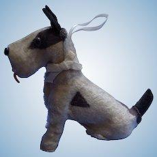 Fripon Fox terrier salon dog BLEUETTE French fashion doll companion
