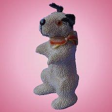 antique begging Fripon Fox terrier salon dog Germany label French fashion doll companion