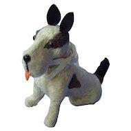 """Fripon Fox terrier sitting salon dog French fashion doll 5"""""""