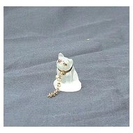 French bulldog Czechoslovakia  deco  glass perfume dangle marked