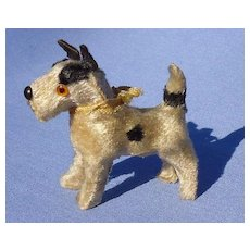 antique Fripon Fox terrier salon dog Kestner Bru French fashion doll companion Germany label 3""