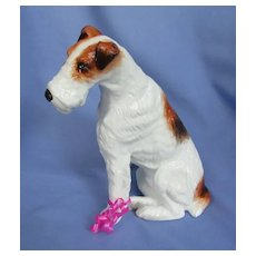 """Wire Haired Fox Terrier LE #64/500 9"""" R/S England  dog"""