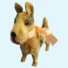 "antique Fripon Fox terrier salon dog BLEUETTE French fashion doll companion Germany label 4"""