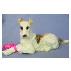 "1940 Fox terrier Hutschenreuther Germany 6"" dog"