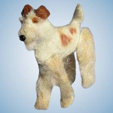 Wire Haired Fox Terrier Fripon salon dog Bleuette Kestner doll companion OOAK soft sculpture