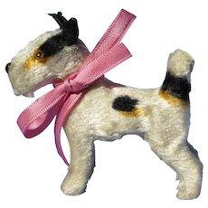 "Antique Fipon Fox Terrier salon dog Bru Kestner French fashion doll companion Germany 3"""