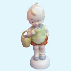 "Grace Drayton doll figurine Germany 8"" boy w basket"