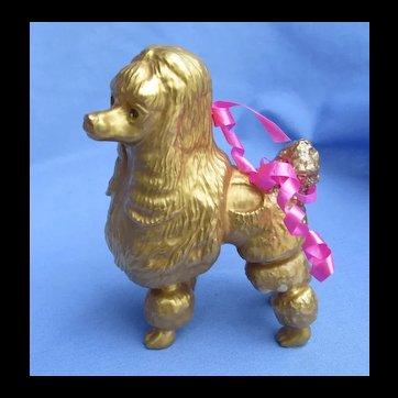 1970s 24k gold poodle dog Boehm l/e #164