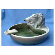 1950s Goldscheider cigar ashtray Borzoi 7""