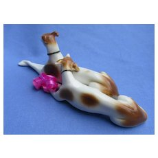 "1940s Whippet Italian Greyhound Gotha Pfeffer Germany 6"" dog pair"