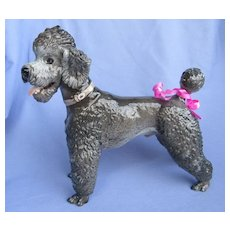 1930 grey POODLE Rosenthal dog Germany 10""