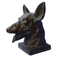 1930 bronze Barclay BUDDY German shepherd 7""