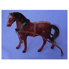 """antique papier mache toy HORSE French fashion doll Germany 5"""""""