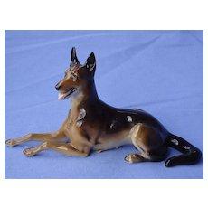 "Hutschenreuther German shepherd dog 6"" Germany"