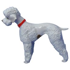 1950s white POODLE dog Hutschenreuther Germany 8""