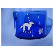 Borzoi Pekingese Boston terrier Scotty cobalt  blue ice bucket