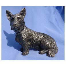 "1930 JB Scottish terrier silver Scotty dog Jennings Brothers 7"""