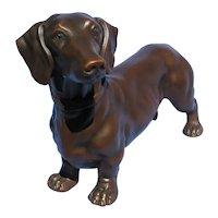 "1930s DACHSHUND bronze JB dog Jennings Brothers 6"""