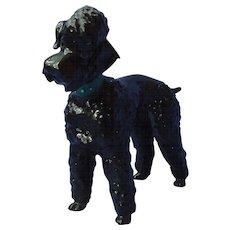 "1950s black Poodle dog Hutschenreuther Germany 8"""