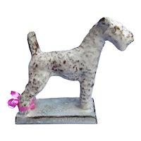 "Airedale Lakeland Irish Welsh Fox terrier pottery dog Karlsruhe Germany 6"""