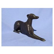 "bronze whippet Italian greyhound 8"" signed  JAN 22/25"